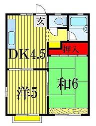 メゾン鎌ヶ谷[1階]の間取り