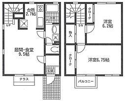 [テラスハウス] 神奈川県横浜市緑区寺山町 の賃貸【/】の間取り