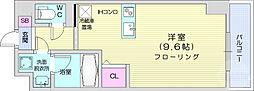 JR仙山線 東北福祉大前駅 徒歩13分の賃貸マンション 6階ワンルームの間取り