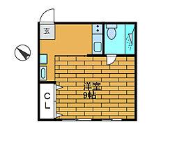 光陽B[1階]の間取り