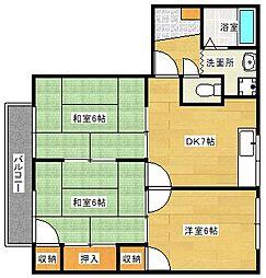 広島県広島市南区東雲2丁目の賃貸アパートの間取り