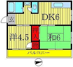 相模マンション[2階]の間取り