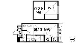 モンソーエトワール[1階]の間取り