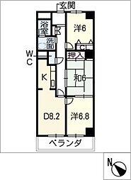サニーコート矢田[1階]の間取り