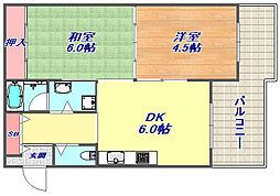 ロイヤルスパークル六甲2[1階]の間取り