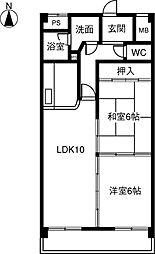 MENAGE KOMORI[402号室]の間取り