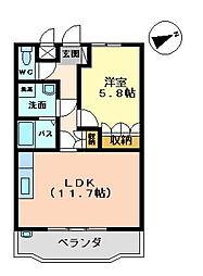 ユア・ハウス[103号室]の間取り