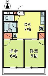 東京都杉並区松ノ木1丁目の賃貸マンションの間取り