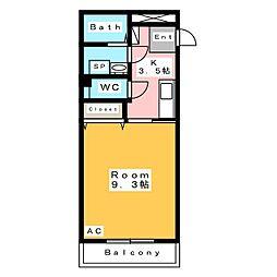 コンフォールサキ[3階]の間取り