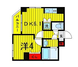 Terrace東浅草[201号室]の間取り