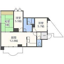 プレジデントハイム[5階]の間取り