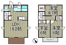 [一戸建] 神奈川県鎌倉市台 の賃貸【/】の間取り