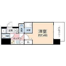エグゼ堺筋本町 4階1Kの間取り