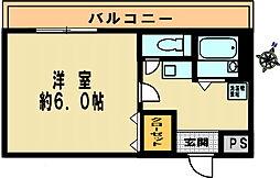 アーバンハウス神戸[501号室]の間取り
