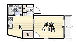 TOMOEマンション Cタイプ[2階]の間取り
