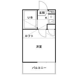 カミーノ豪徳寺[203号室]の間取り