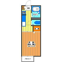 プランドール新宿[2階]の間取り