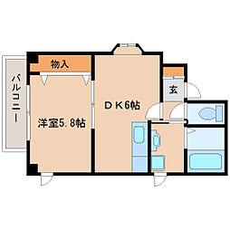 兵庫県尼崎市塚口町3丁目の賃貸マンションの間取り