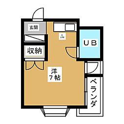 マンション稲垣[4階]の間取り