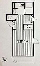 平川共同住宅[302号室]の間取り