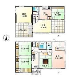 [一戸建] 兵庫県姫路市的形町的形 の賃貸【/】の間取り