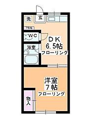 第2多田ハイム[1-1号室]の間取り