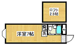 新宿コーポ[1階]の間取り