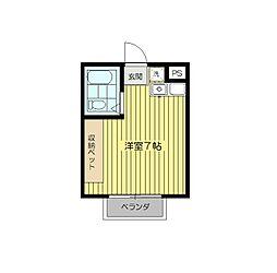 中川コーポ[303号室]の間取り