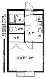 東京都江戸川区鹿骨2丁目の賃貸アパートの間取り