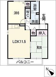 サンライト A棟[2階]の間取り