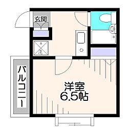東京都西東京市谷戸町2丁目の賃貸マンションの間取り