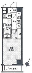 東京メトロ有楽町線 辰巳駅 徒歩9分の賃貸マンション 3階1Kの間取り
