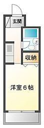甲子園セブン[3階]の間取り