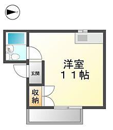 愛知県清須市助七2丁目の賃貸マンションの間取り