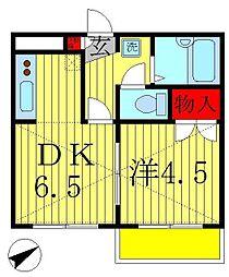 ジュネパレス松戸第19[4階]の間取り