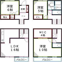 [テラスハウス] 東京都国立市東3丁目 の賃貸【/】の間取り