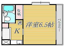 東京都中野区若宮3丁目の賃貸マンションの間取り