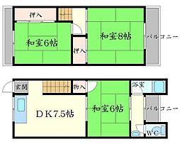 [テラスハウス] 大阪府箕面市小野原西1丁目 の賃貸【/】の間取り
