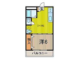 シンハイム蕨[3階]の間取り