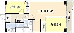 江坂・江の木公園スカイハイツ[4階]の間取り
