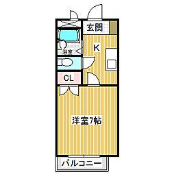 愛知県名古屋市中川区百船町の賃貸マンションの間取り