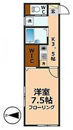 東京都杉並区高井戸西3丁目の賃貸アパートの間取り