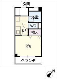 雲錦山房[2階]の間取り