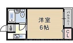 西九条コーポ白樺[5階]の間取り