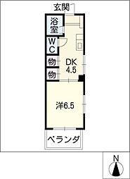 フラット1[3階]の間取り