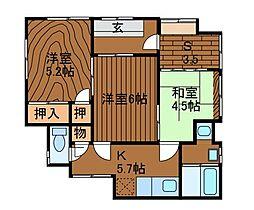[一戸建] 神奈川県相模原市中央区淵野辺3丁目 の賃貸【神奈川県 / 相模原市中央区】の間取り