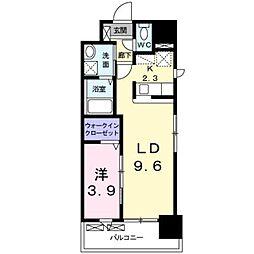 JR鹿児島本線 箱崎駅 バス12分 オロシアム下車 徒歩4分の賃貸マンション 10階1LDKの間取り