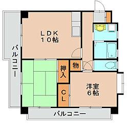 コーポ嶋[2階]の間取り