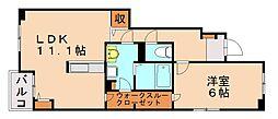 西鉄天神大牟田線 春日原駅 徒歩34分の賃貸アパート 1階1LDKの間取り