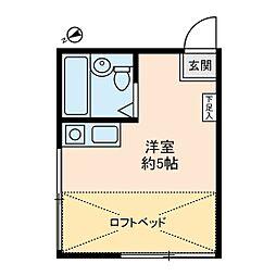 プチネスト上池[2階]の間取り